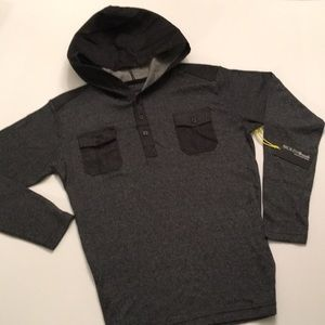 BNWT Charcoal Dressy Hoodie Shirt